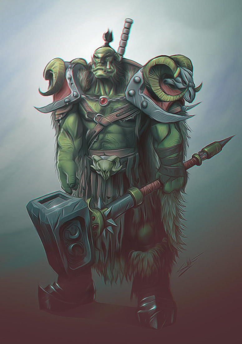 Eric wilkinson blizzard entertainment orc concept 1