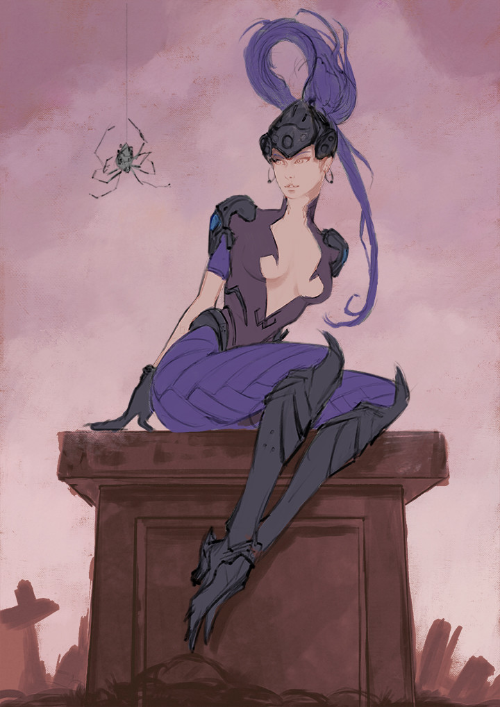 Oliver wetter widowmaker underpainting small
