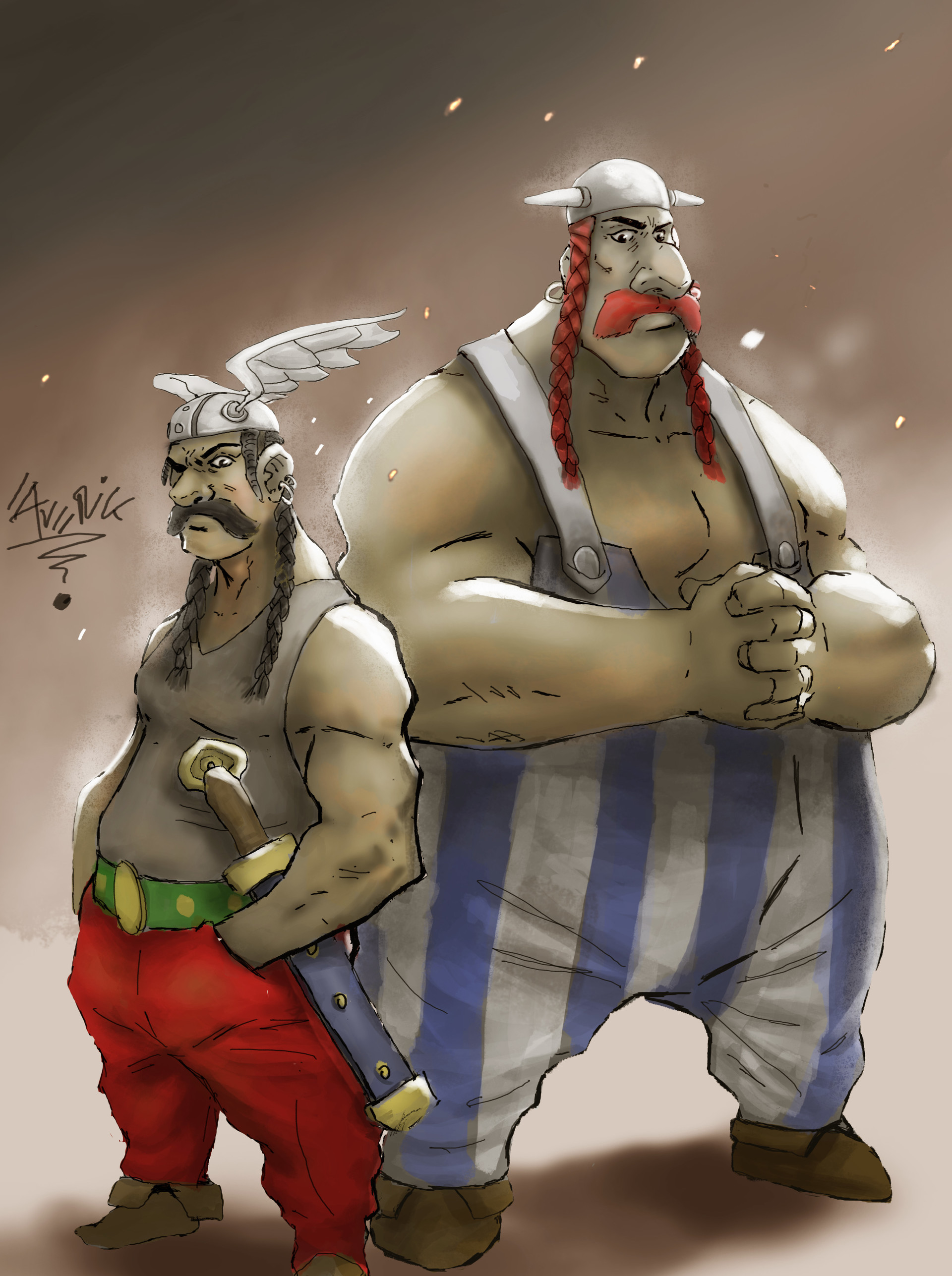Gbenle maverick asterix and obelix