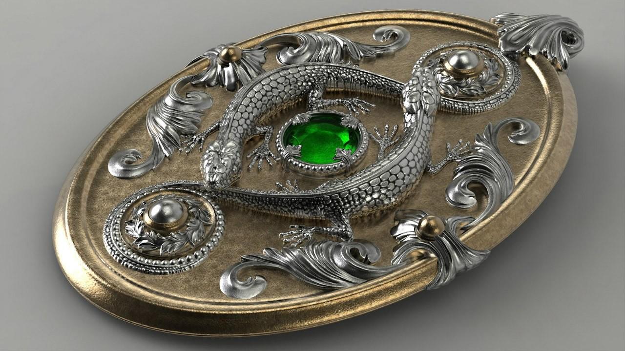 old pendant render