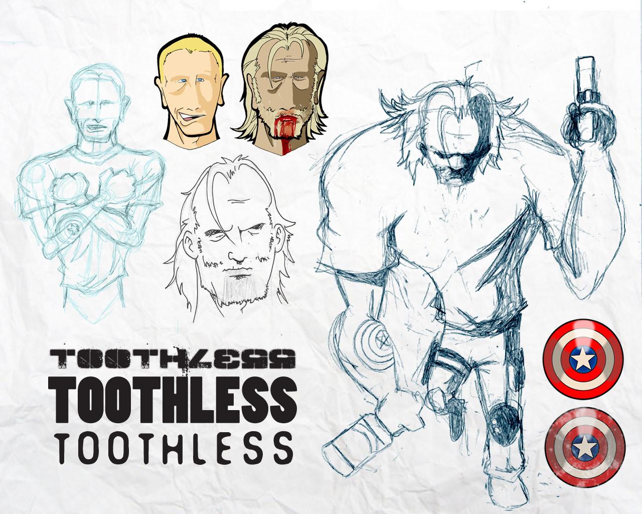 Steve rampton toothless sketches