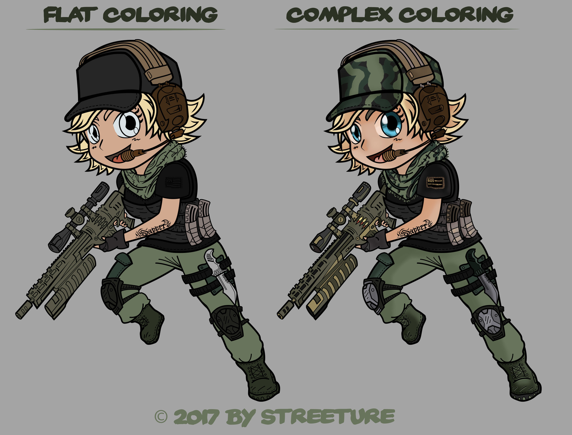 Streeture design chibi racoon chrissy comp
