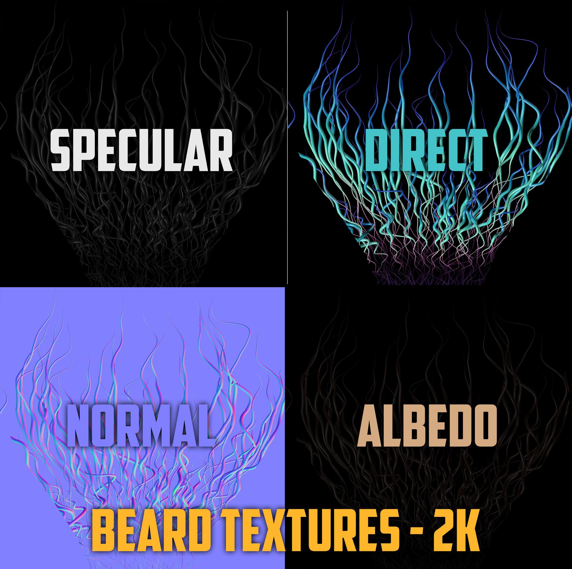 Andrew krivulya beard textures