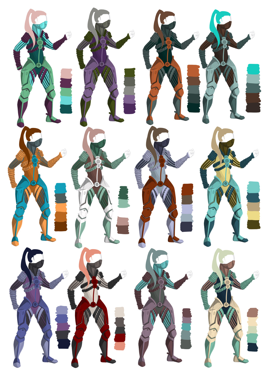 Xono - different color palettes
