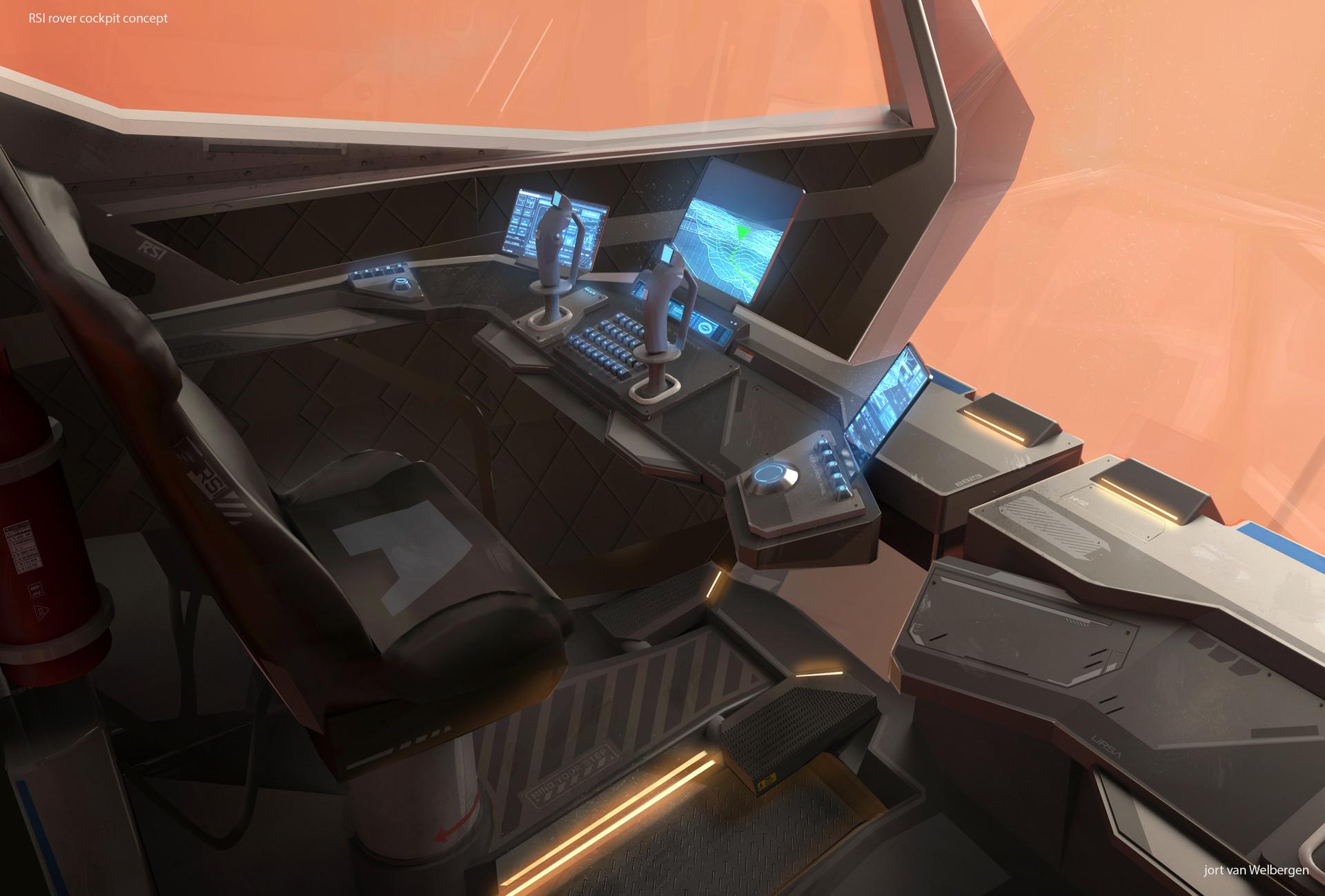 Jort van welbergen rover cockpit