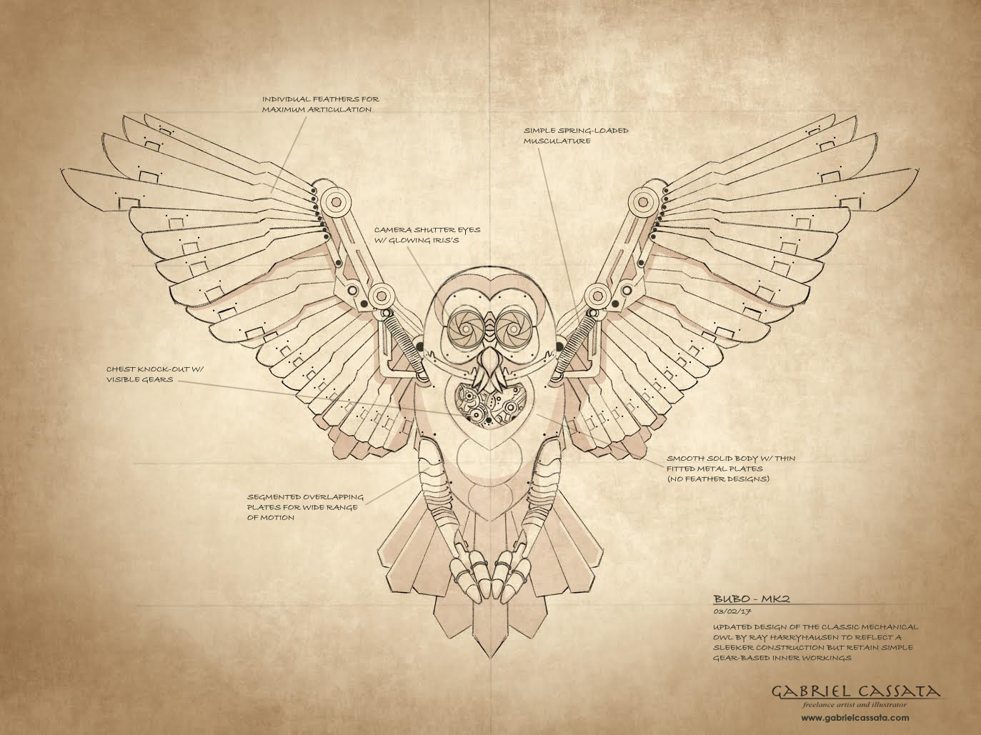 Gabriel cassata bubo mk2 design sketch