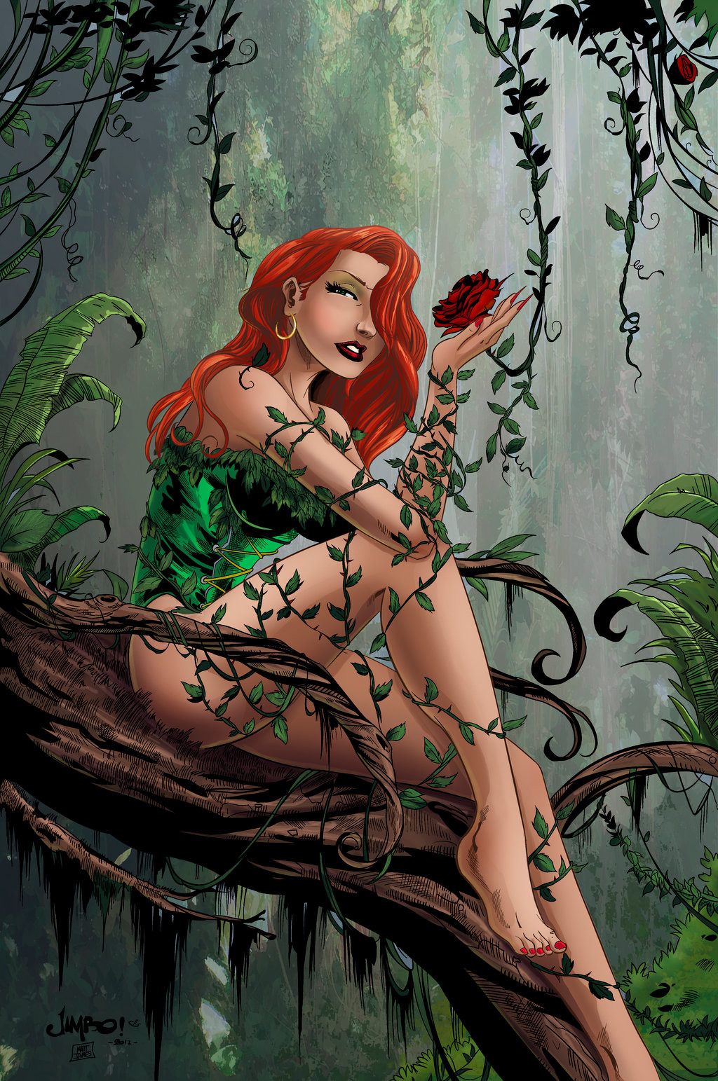 Matt james poison ivy by snakebitartstudio db140qo