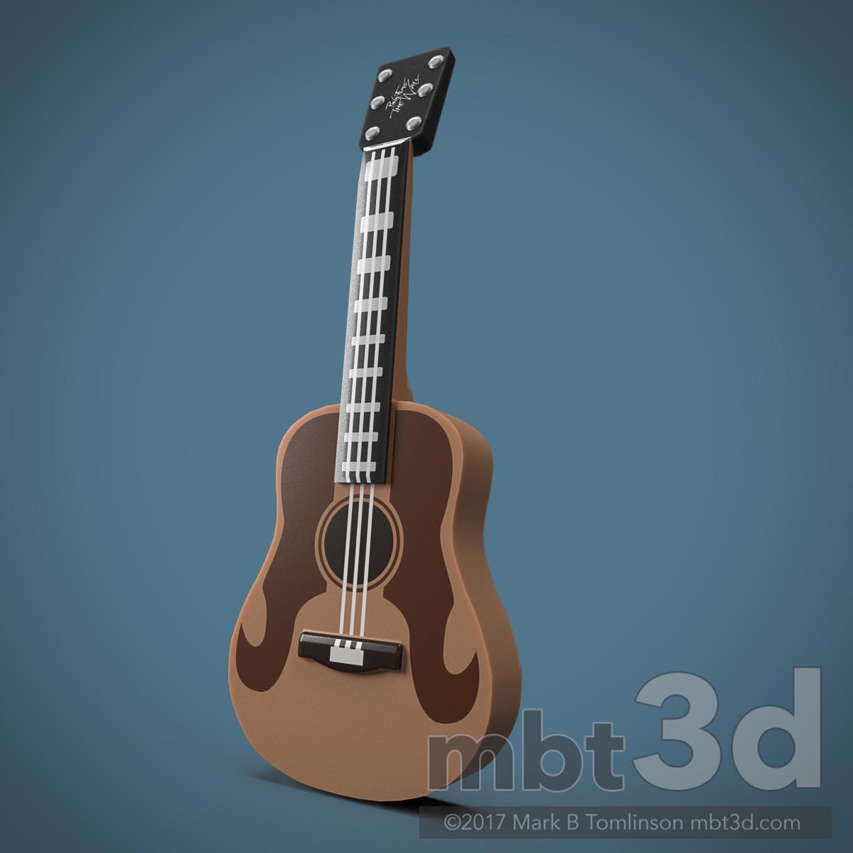 Minifigure Guitar Prop