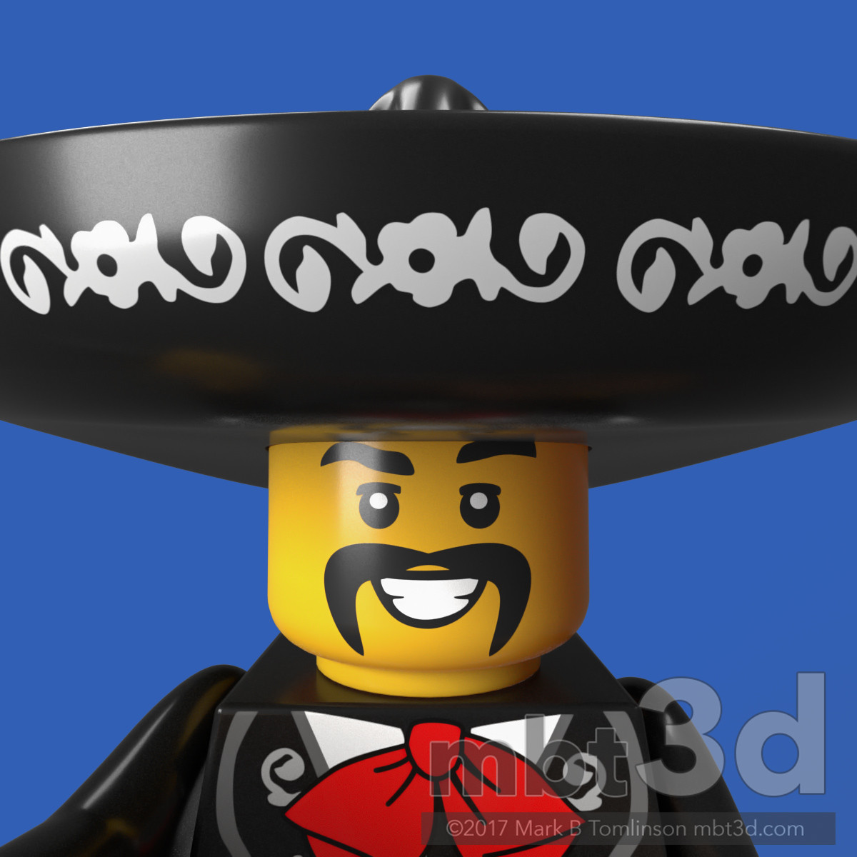 El Mexicano Minifigure Face