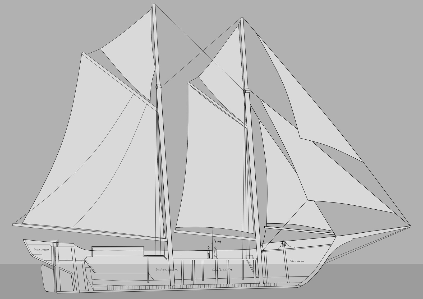 Ship layout.