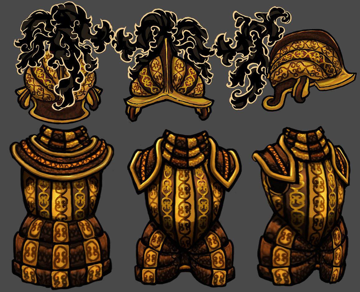 Vivien lulkowski gold armor set