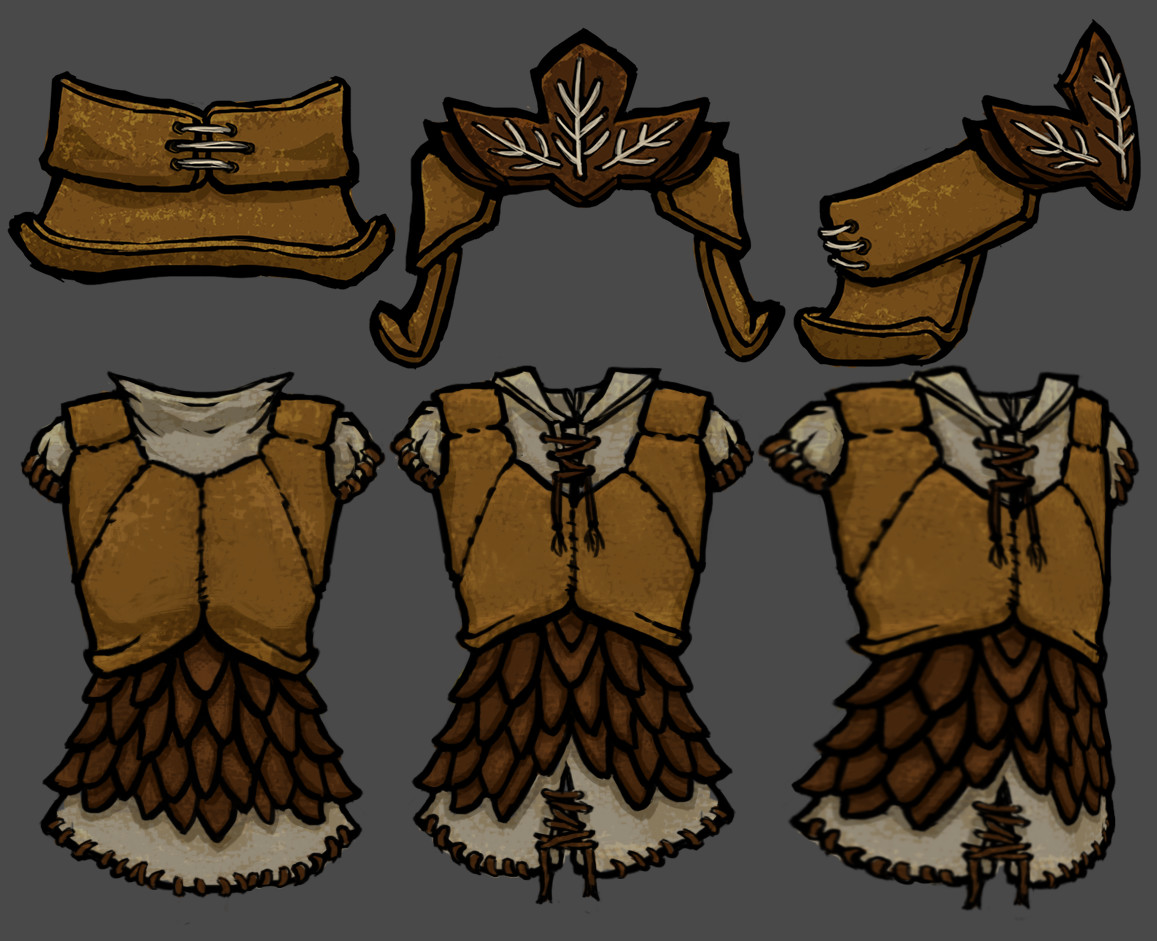 Vivien lulkowski light leather armor set