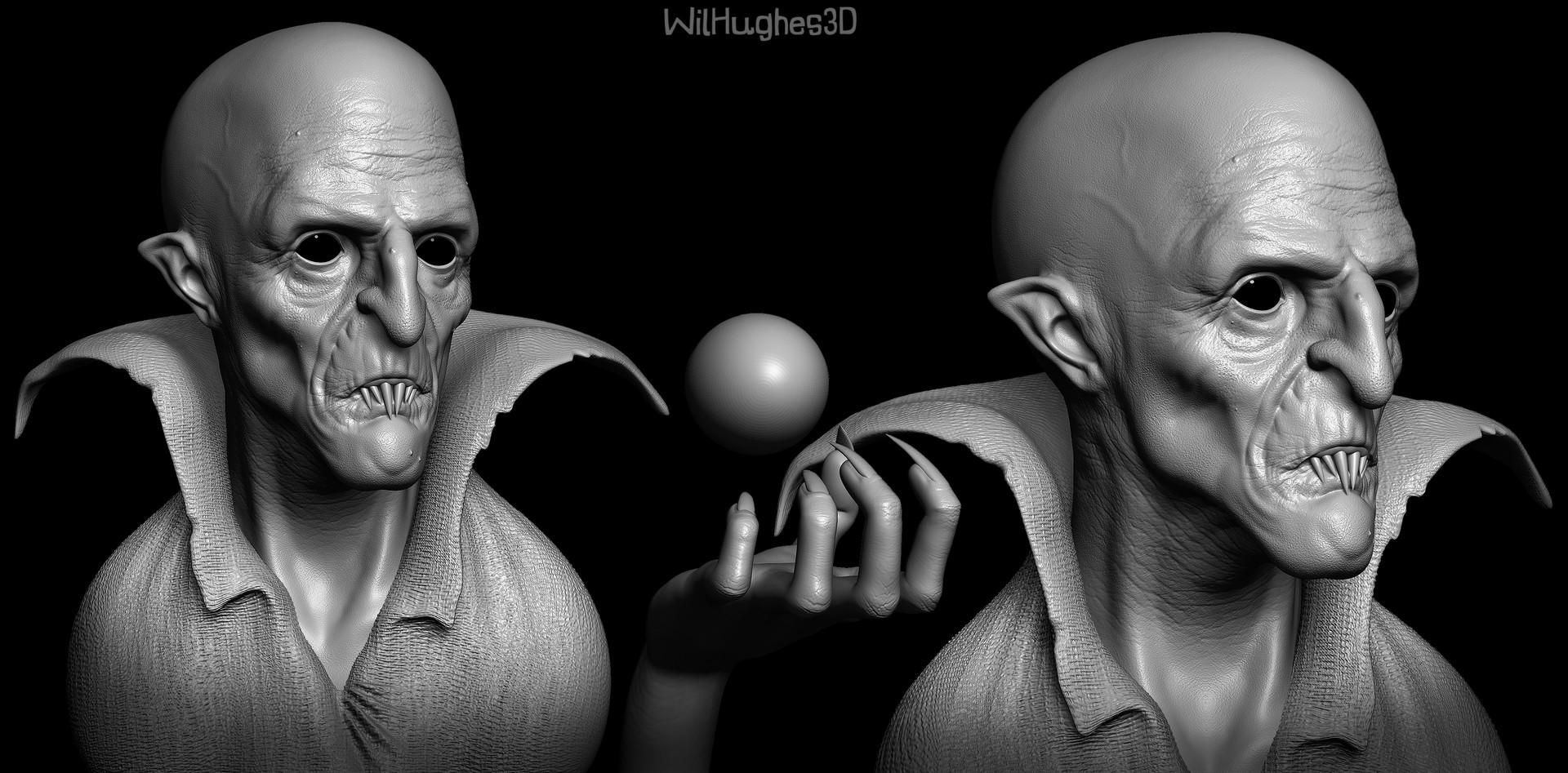 Wil hughes vampire sculpture