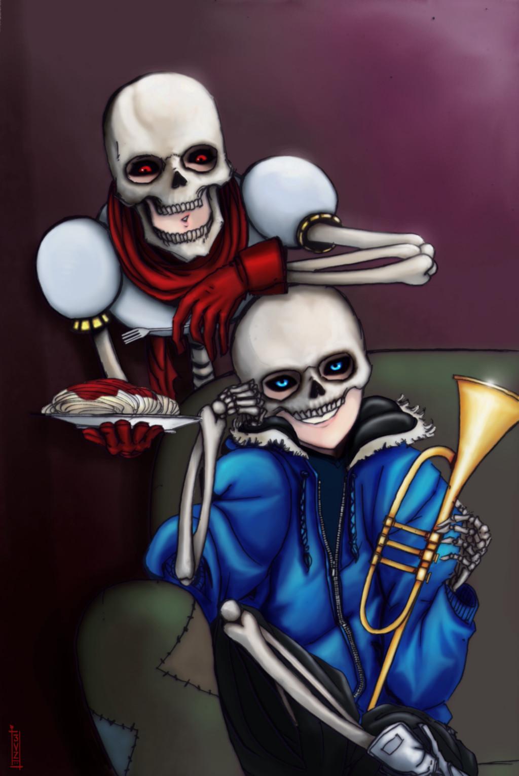 Картинки скелета санса, анимации пятницей поздравления