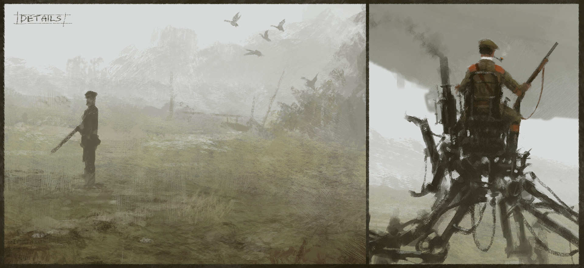 Jakub rozalski duck hunting process4