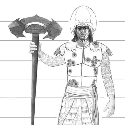 Evi vanca evivanca calusa warrior modelsheet