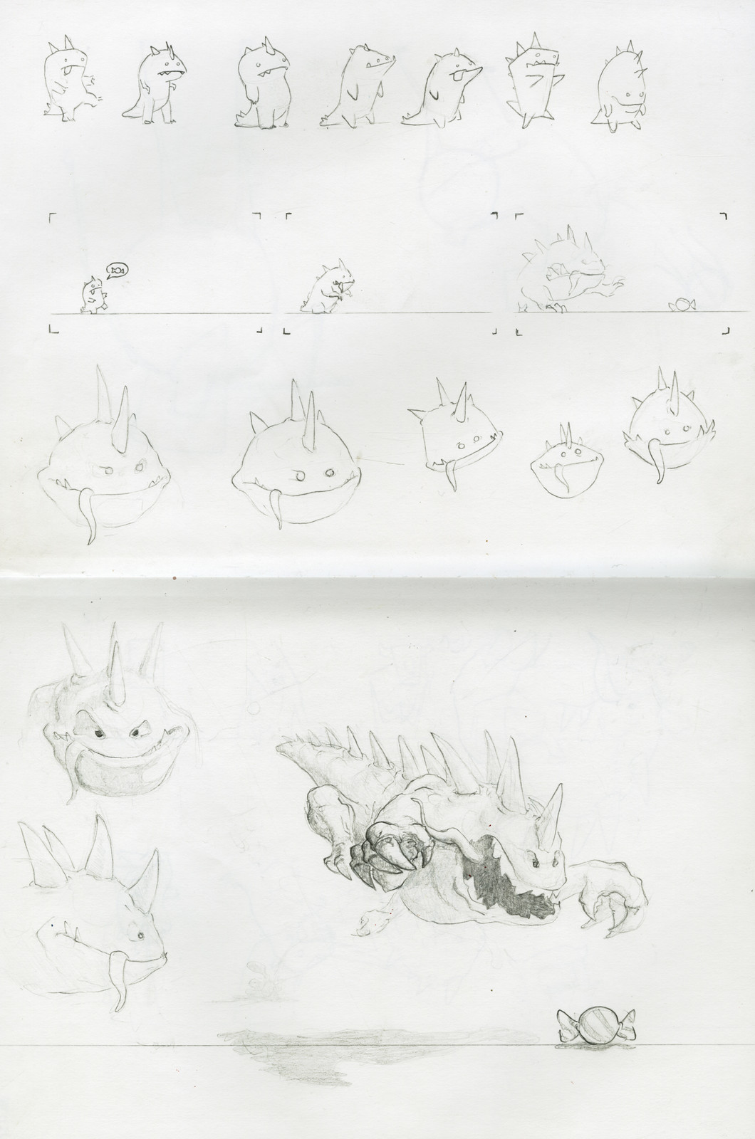 Sketches for character development
