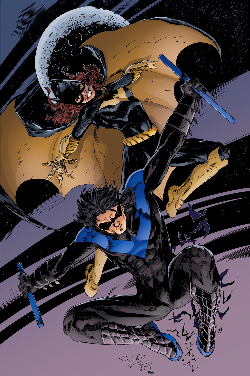 Matt james batgirl and nightwing blue by snakebitartstudio db185nu