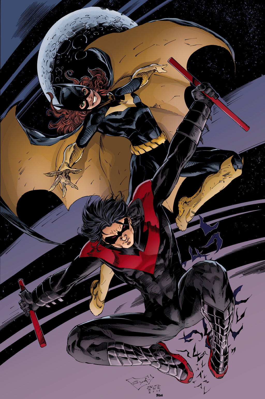 Matt james batgirl and nightwing red by snakebitartstudio db186kj