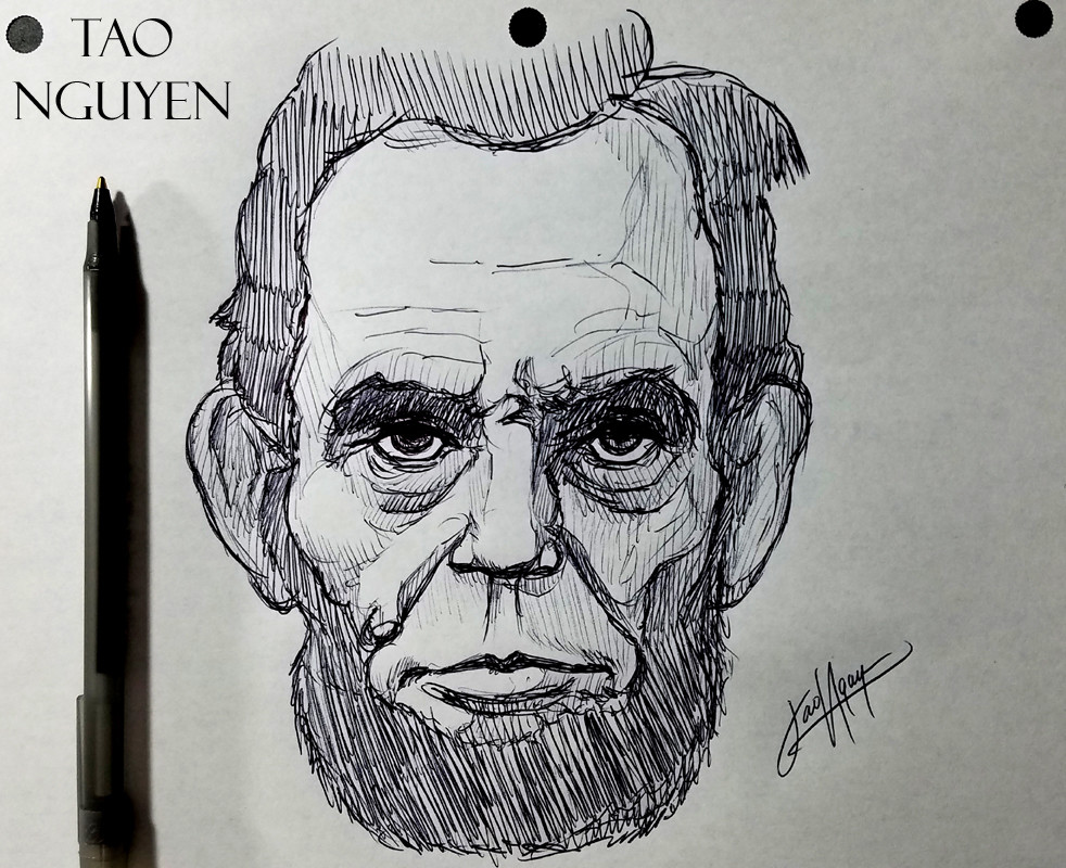 Artstation Tao Nguyen S Abraham Lincoln S Sketch Drawing Tao Nguyen