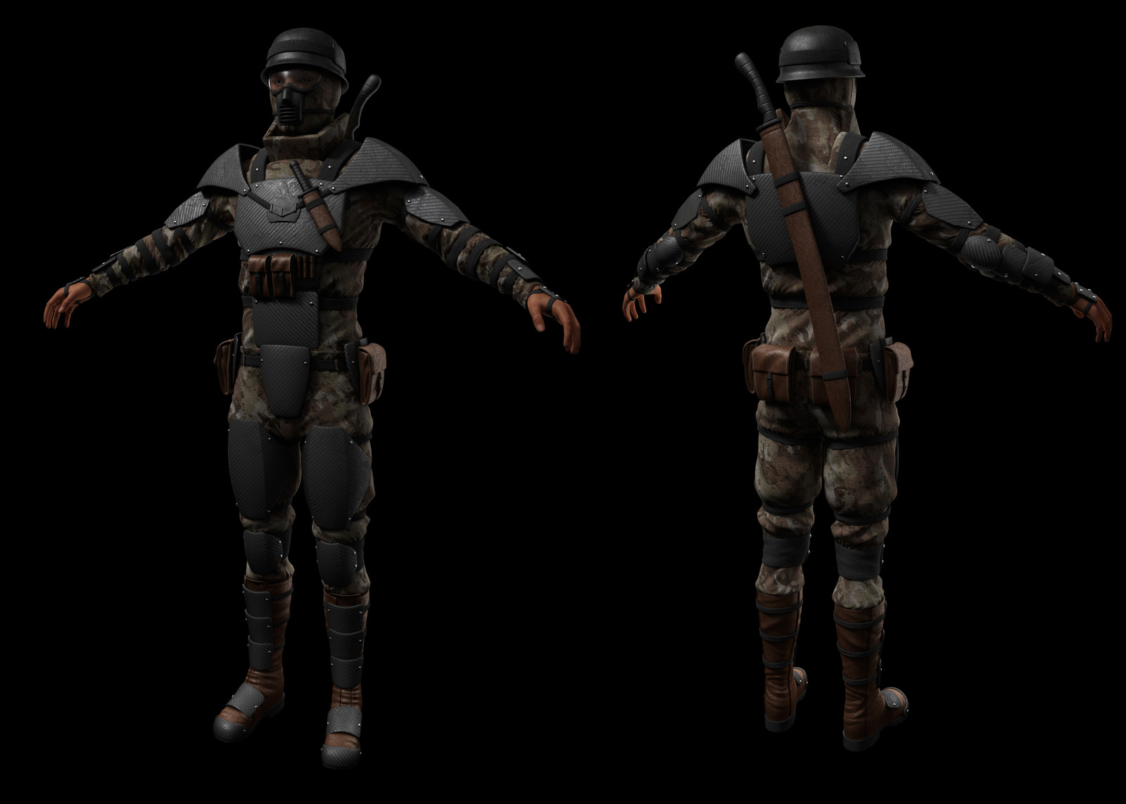 Front/back - highpoly