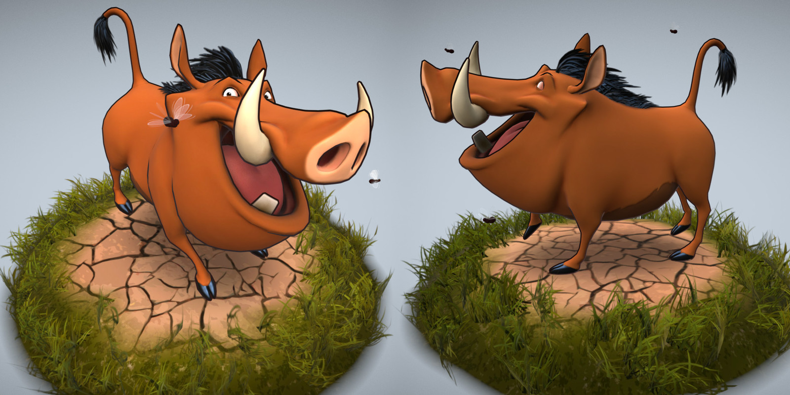 Pumba lowpoly - angles