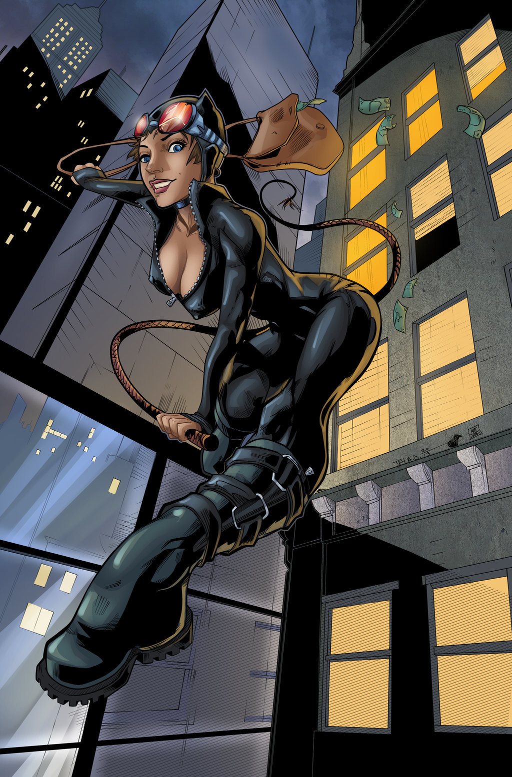 Matt james catwoman gotham city s finest by snakebitartstudio db1d6uk