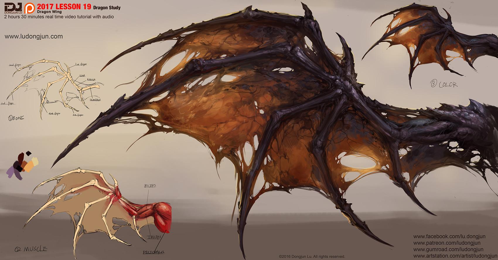 Artstation Dragon Wing Dongjun Lu