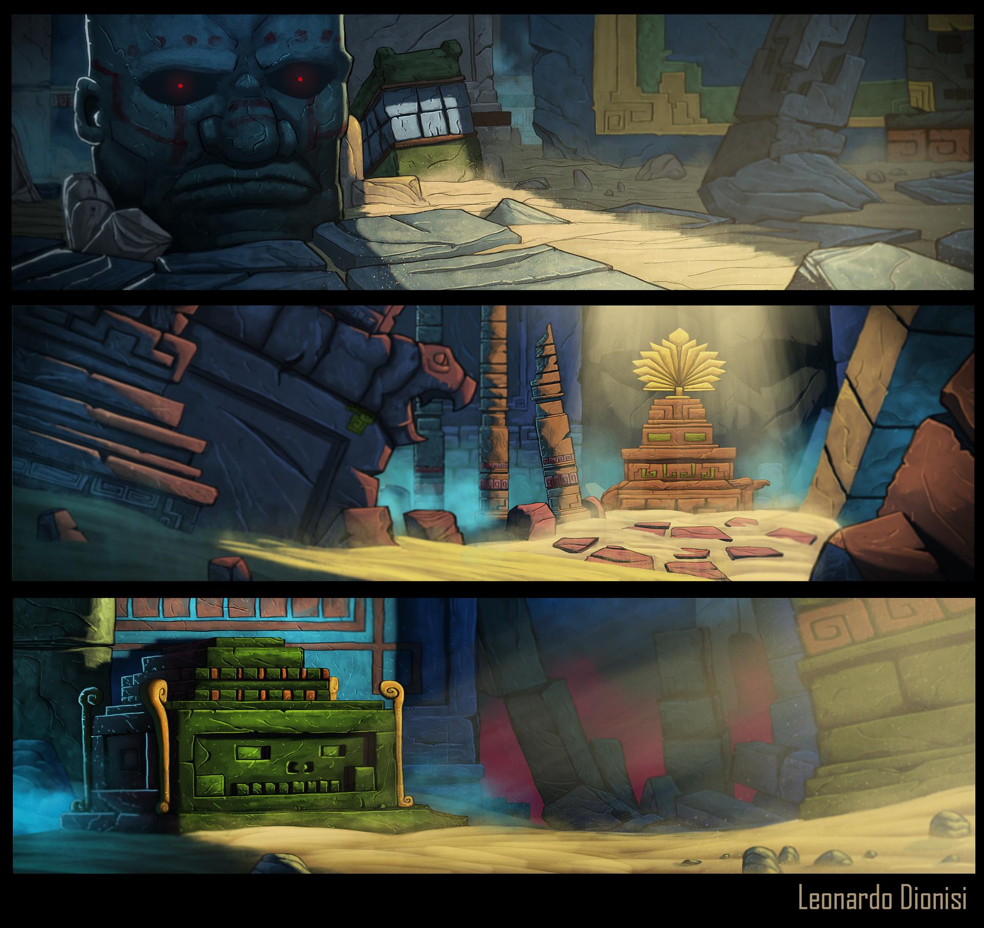 Artstation Freelance Work Mayan Temple Environments