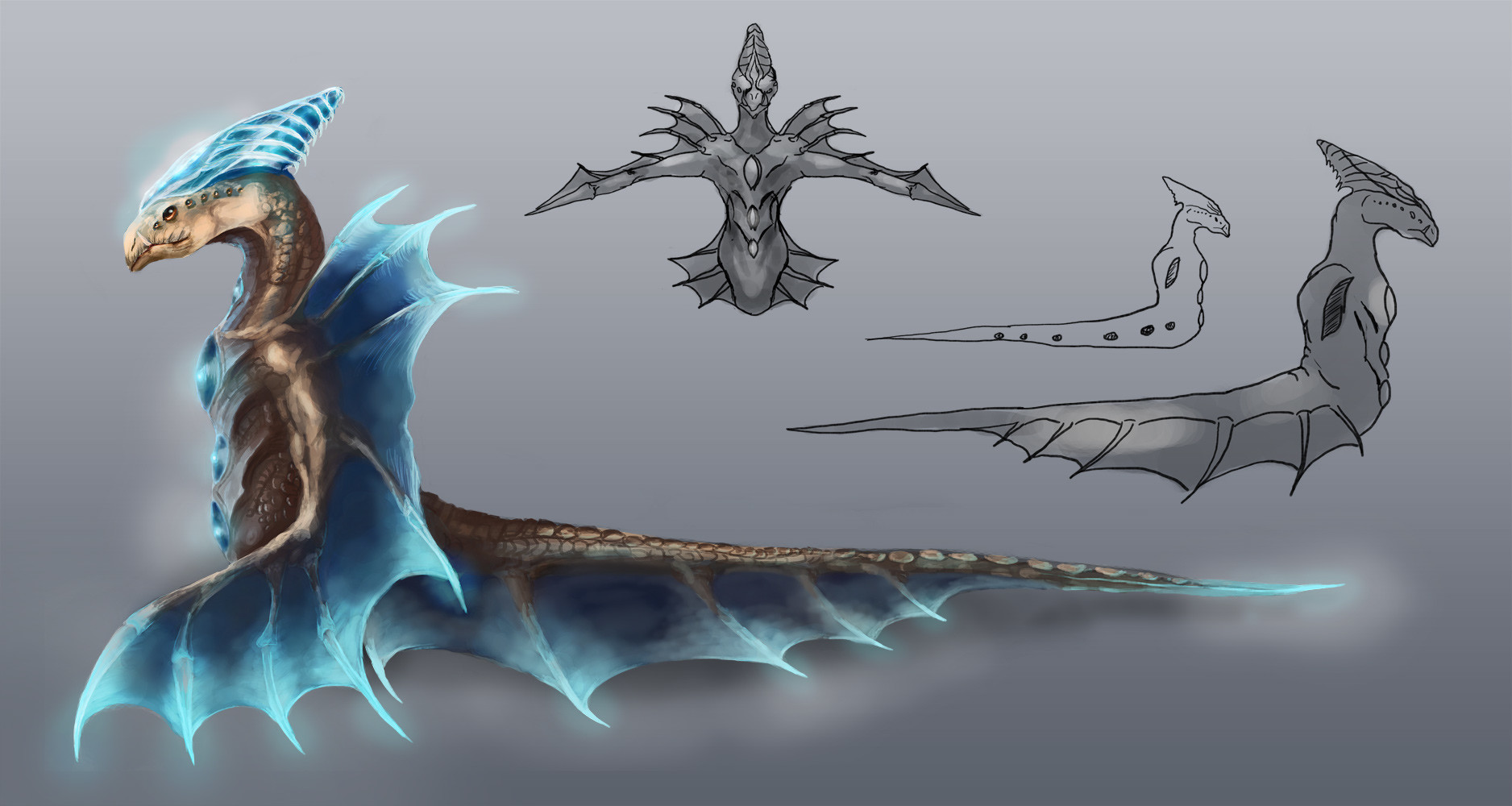 Orm irian sea creature by catharina wendland