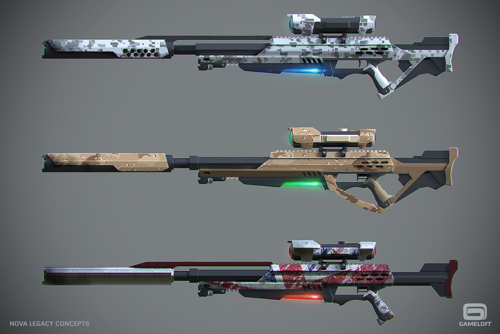 Nova Legacy - Weapons Concepts
