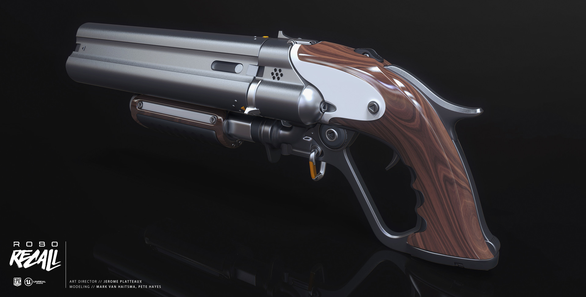 Mark van haitsma triple barrel shotgun back perspective