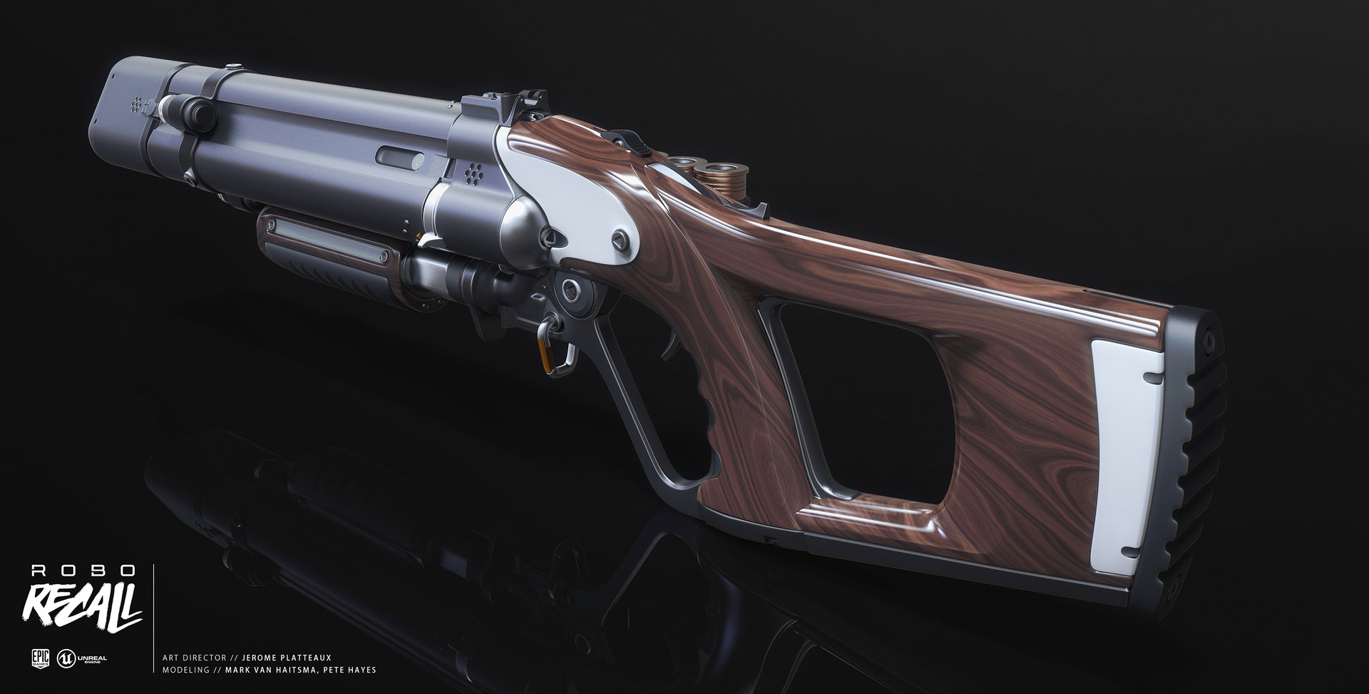 Mark van haitsma triple barrel shotgun back perspective attachments
