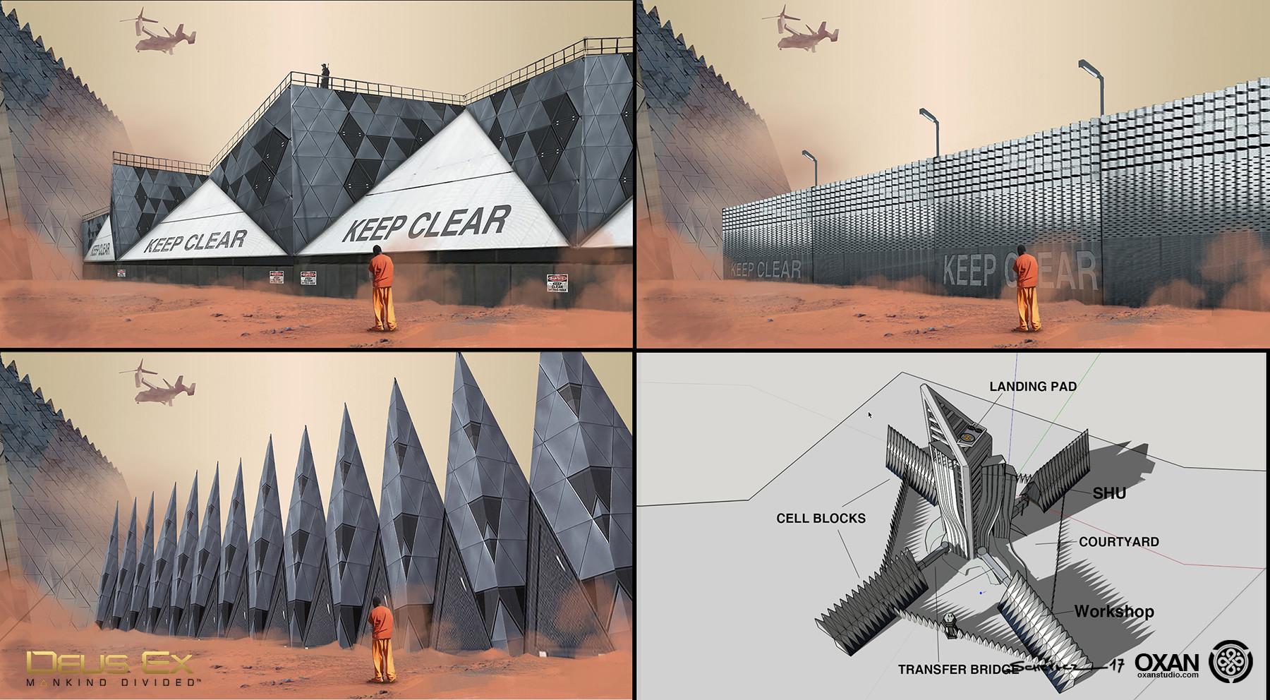 Yohann schepacz oxan studio prison walls iterations