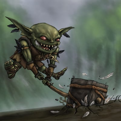Christian hadfield dnd piglet the barbarian goblin by christian hadfield
