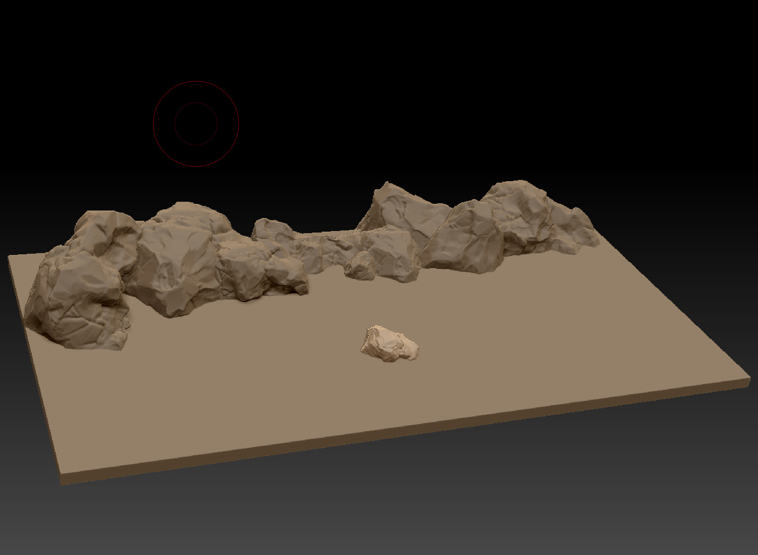 Arrangement in Zbrush (its all one and the same rock)