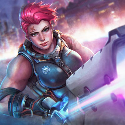 Abigail diaz zarya 21 days of overwatch by serafleur