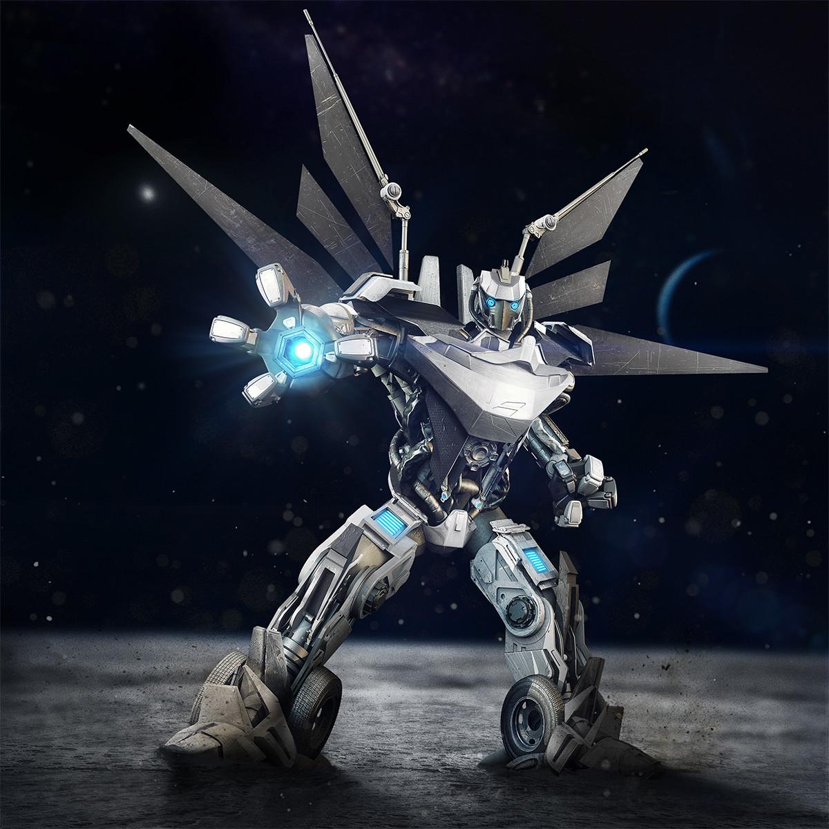 Dis studio robot white v6