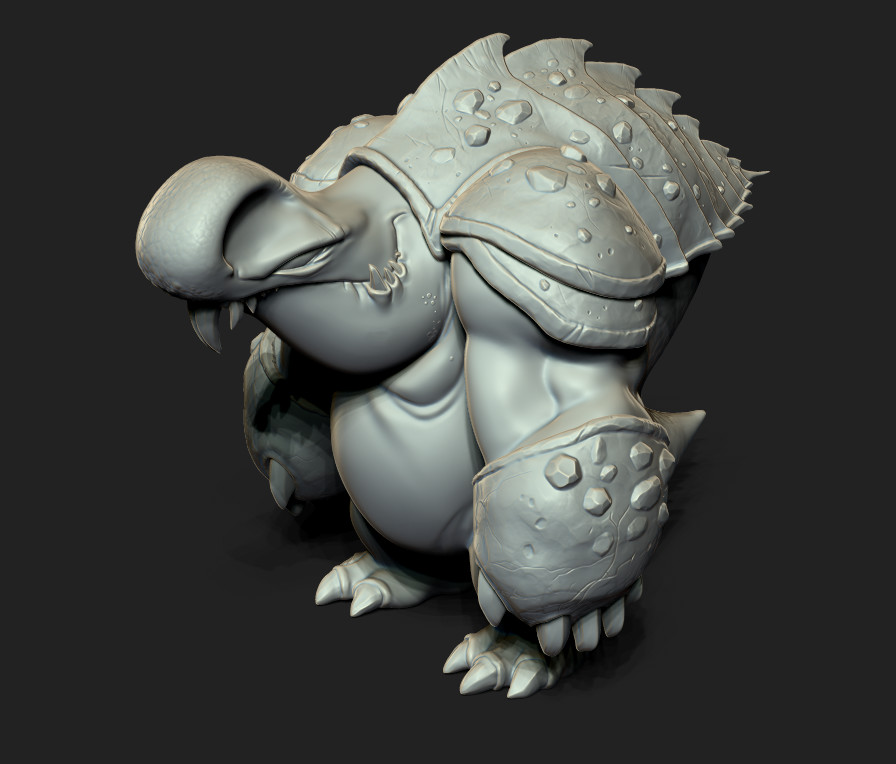 Final High poly sculpt