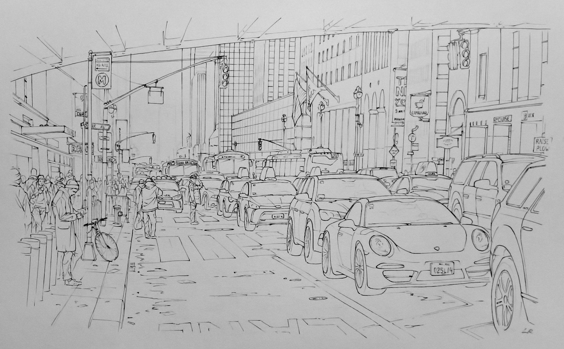 Line Drawing Nyc : Artstation drawings sketches romain lebouleux