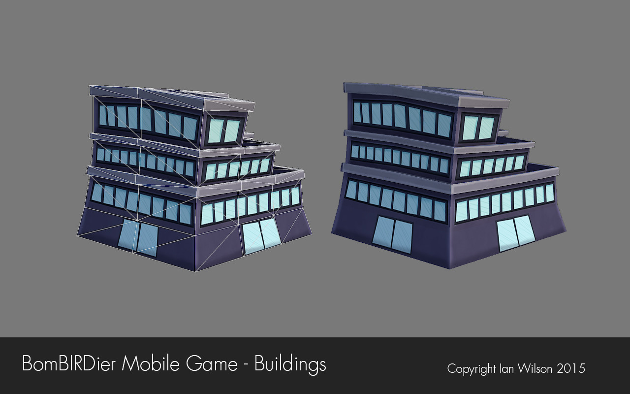 Mobile game commercial - Some Texture And Geometry Variations For One Of My Skyscrapers