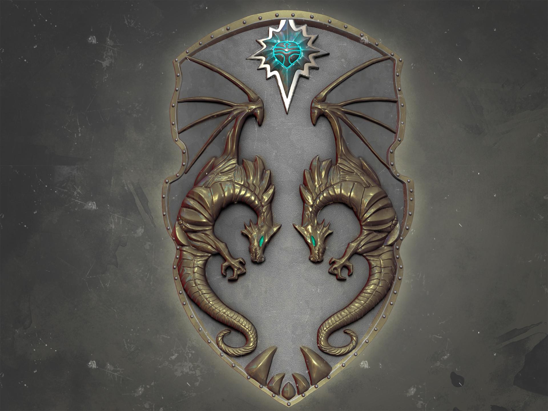 ArtStation - Fantasy Dragon Shield, Virendra Shekhawat Vj