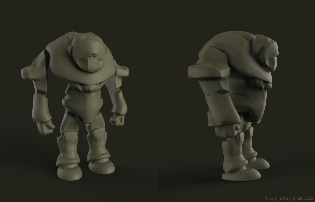 Blockin basic forms. I liked the the ape type of head, but it had to go in a bear direction.