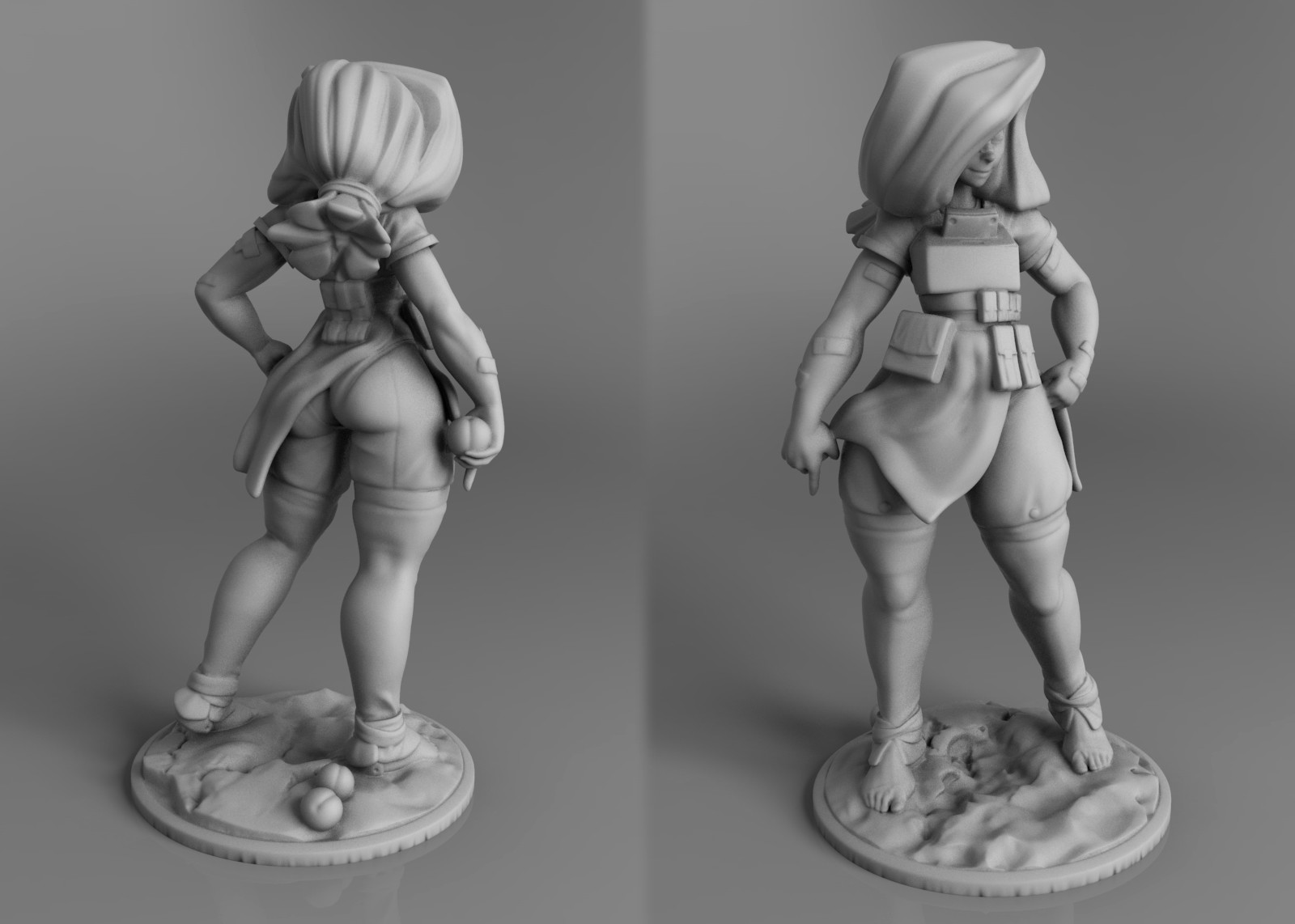 One of the things I wanted to do, is also make this print ready, so here's a quick mock up of the air tight model