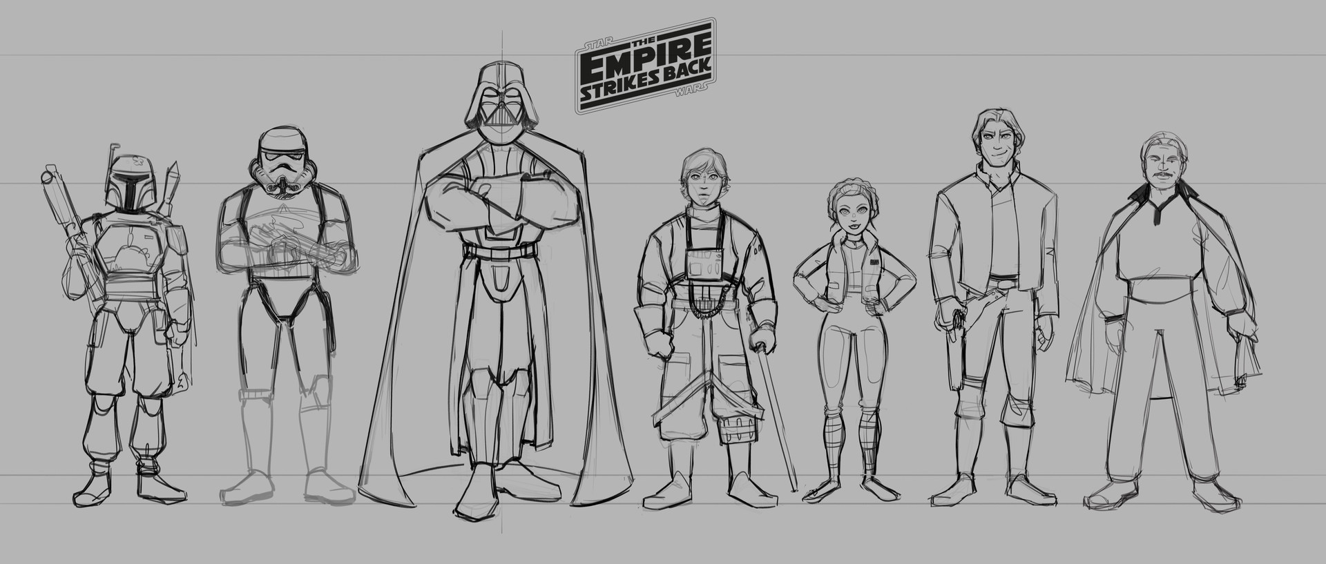Alice hamel star wars lineup sketch