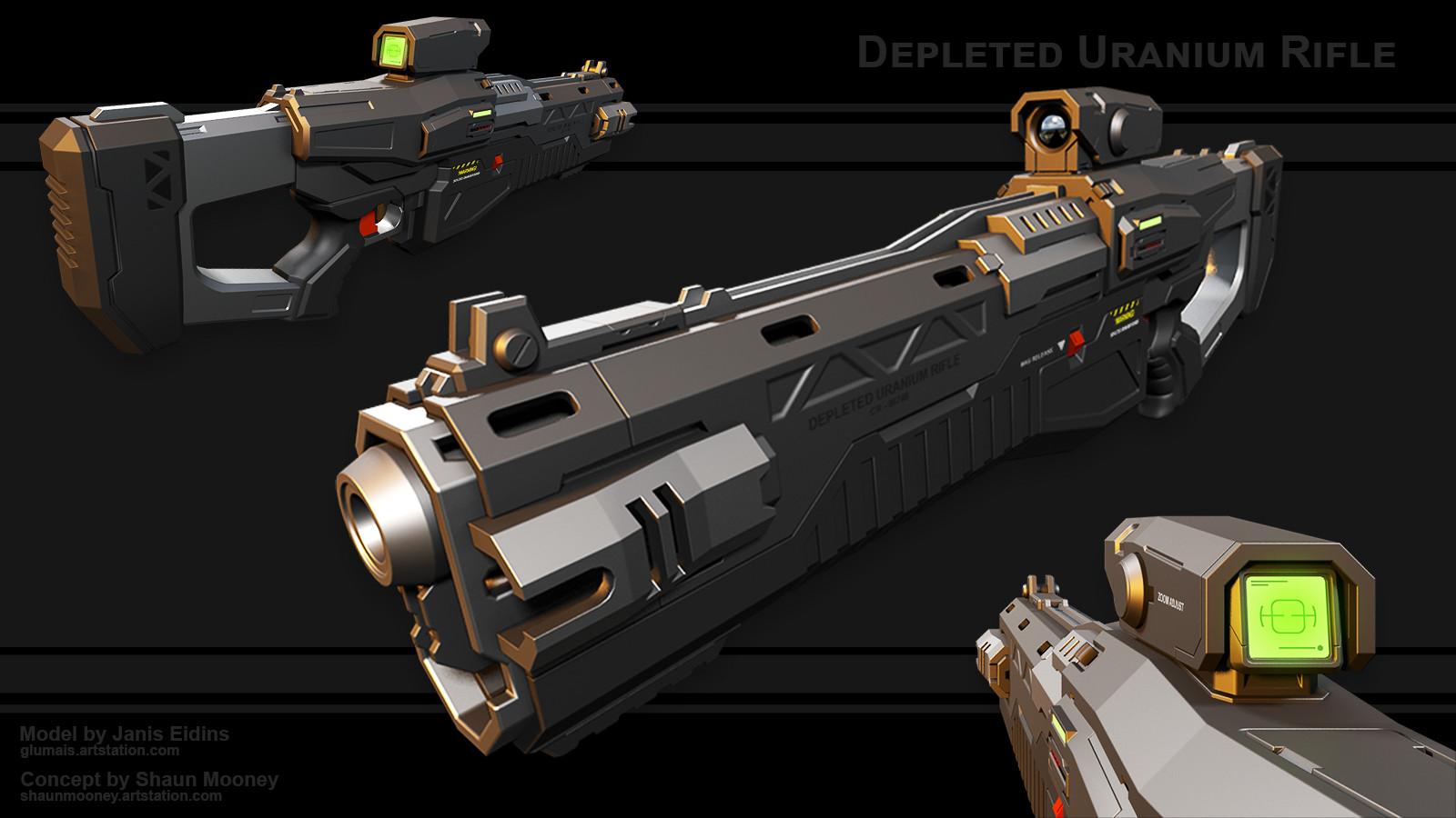 ArtStation - Depleted Uranium Rifle, Janis Eidins