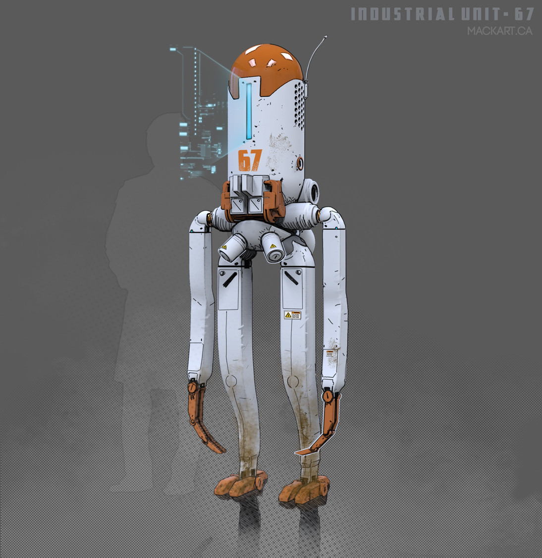 First generation Industrial Bot. Used to handle hazardous materials.