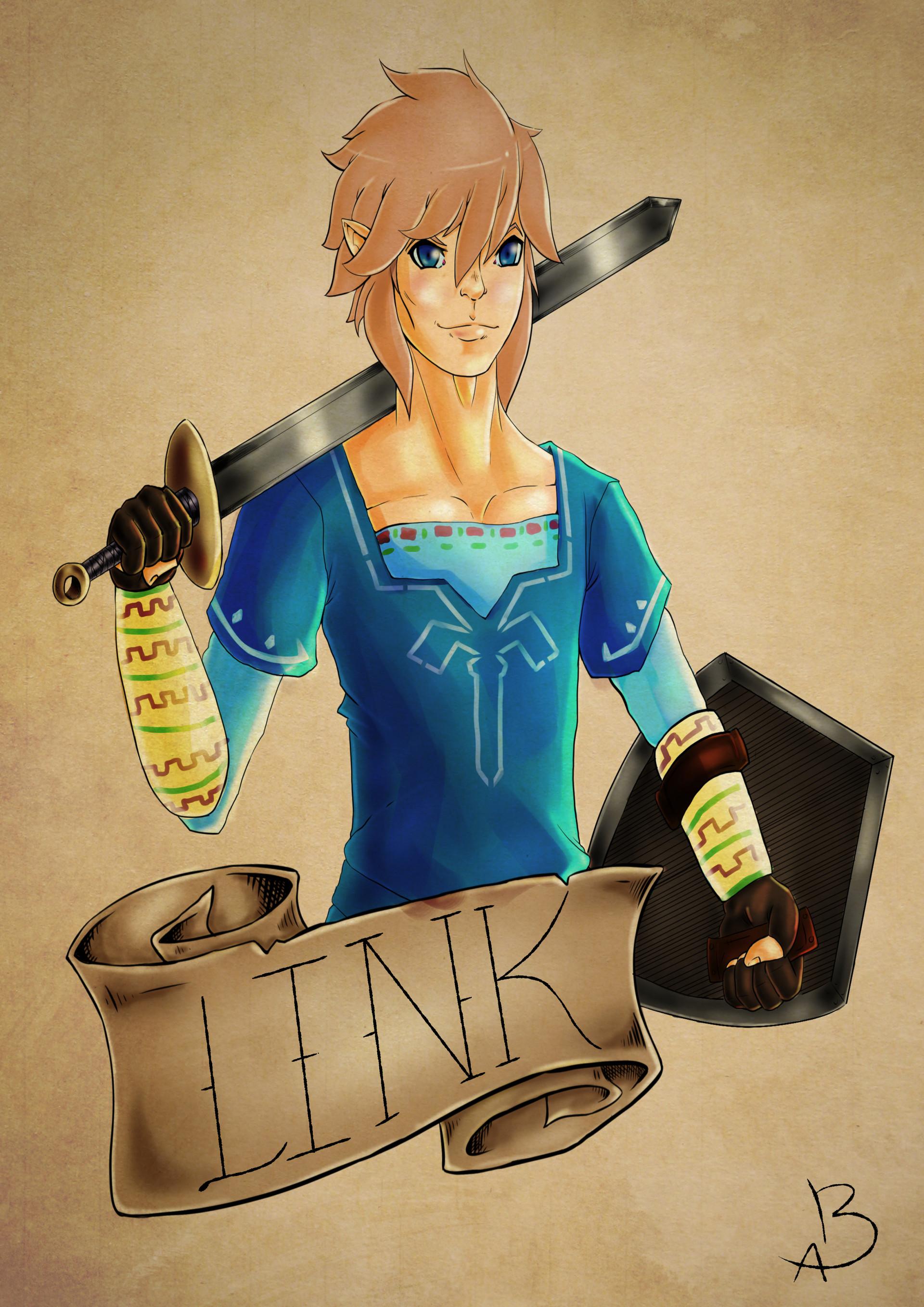 Blake Appling Zelda Botw Link Fan Art Design