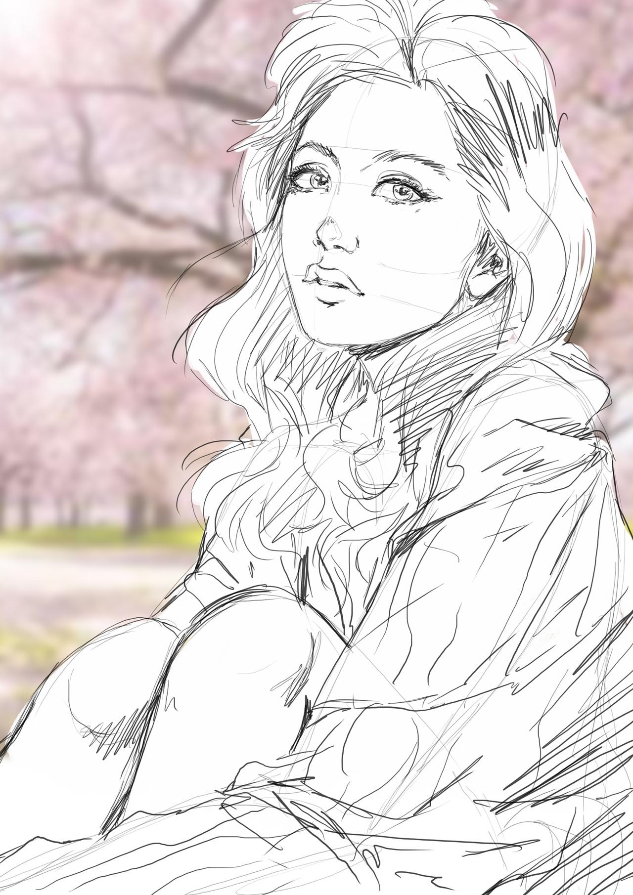 Axelle bouet fille et cerisier1