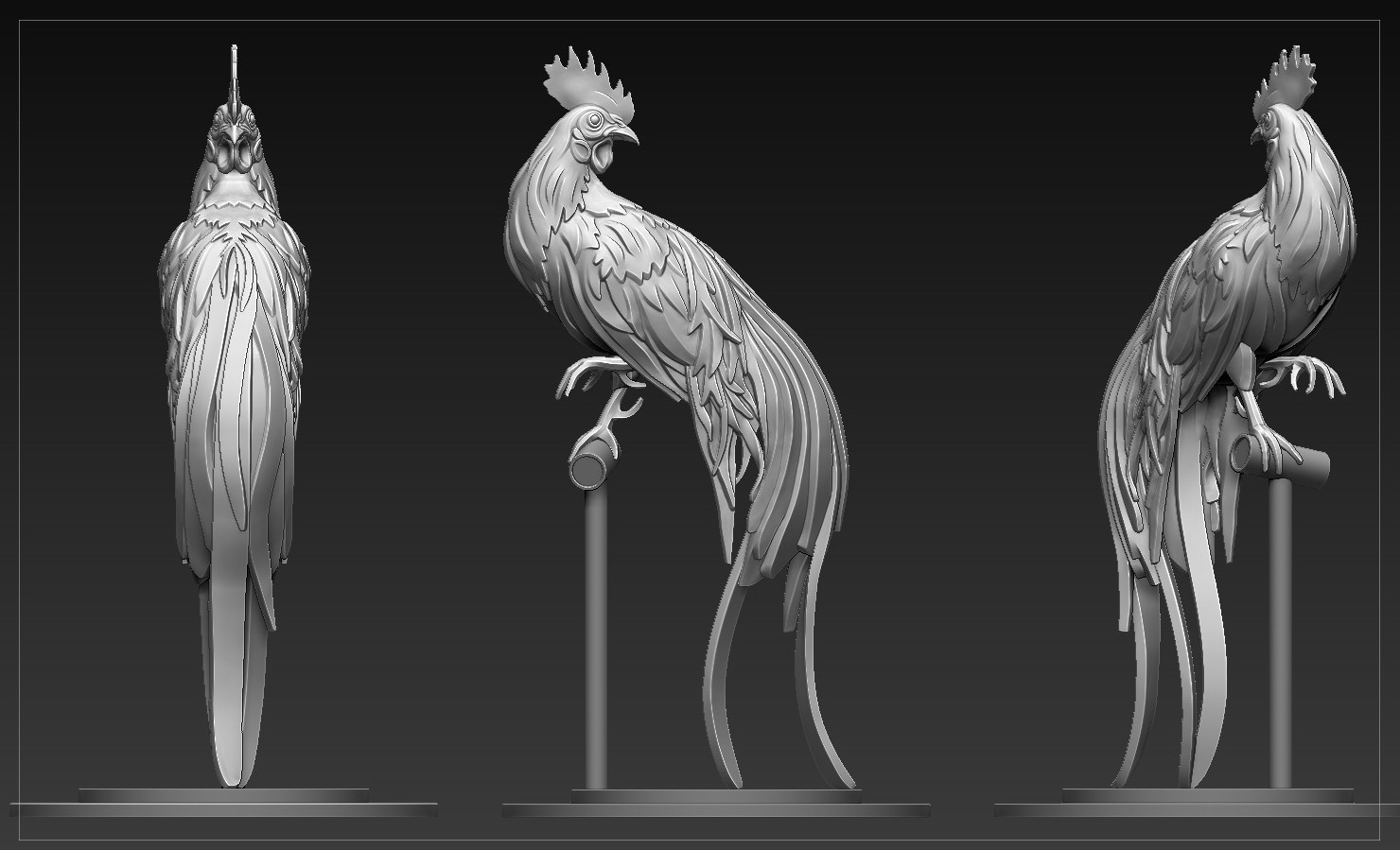 Leon teoh zbrush rooster